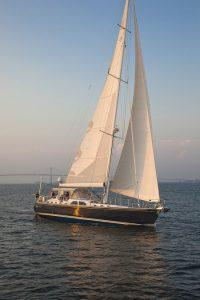 Destiny, Hylas 70 sailing in Newport, RI.