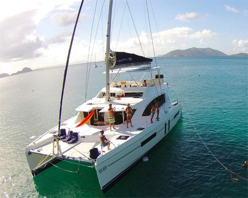 Sailing Catamaran for charter with crew