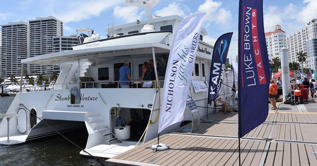 Nicholson Yachts, Luke Brown and KAM Marine at the Palm Beach International Boat Show 2021.
