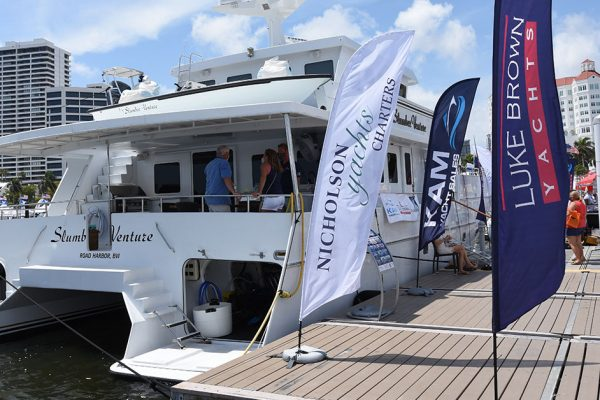Nicholson Yachts, Luke Brown and KAM Marine at the 2021 Palm Beach International Boat Show