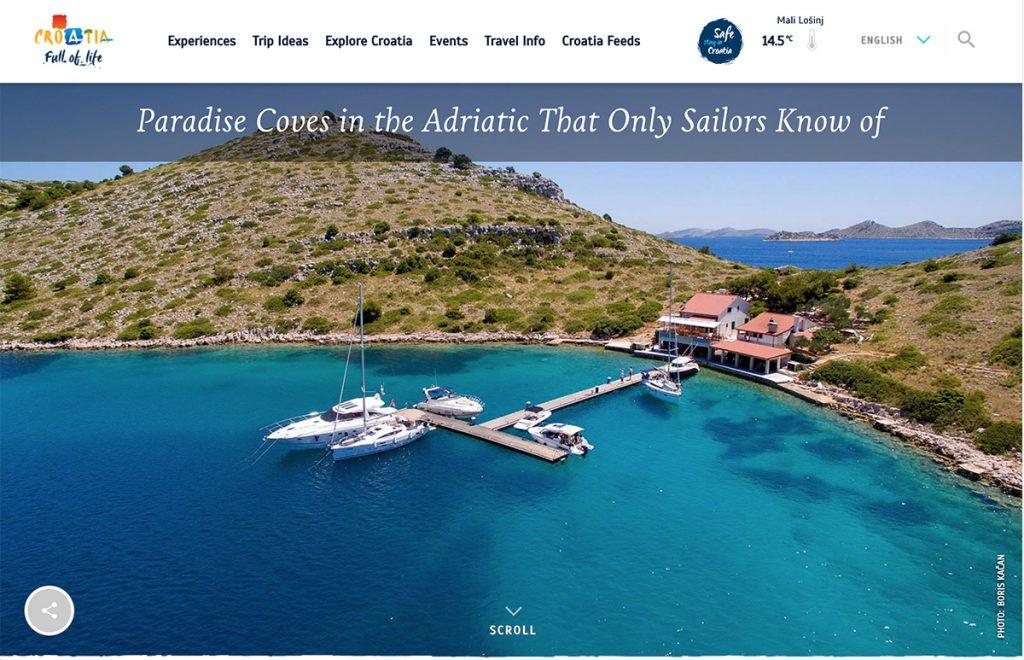 Croatia is open for travel. The Croatia Tourist Board website has lots of useful information for summer 2021 vacations.