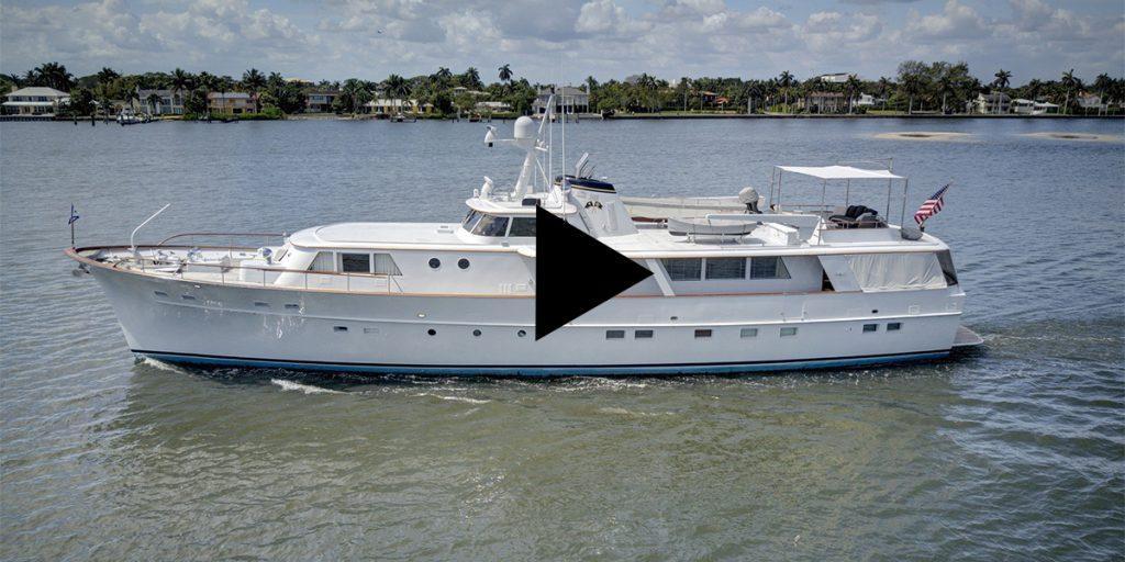 Motor yacht SOVEREIGN video. 97' Burger motor yacht built in 1966, refit in 2019.