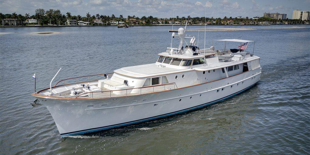Motor yacht SOVEREIGN offers New England yacht charters Summer 2021. Florida charter dates also available.