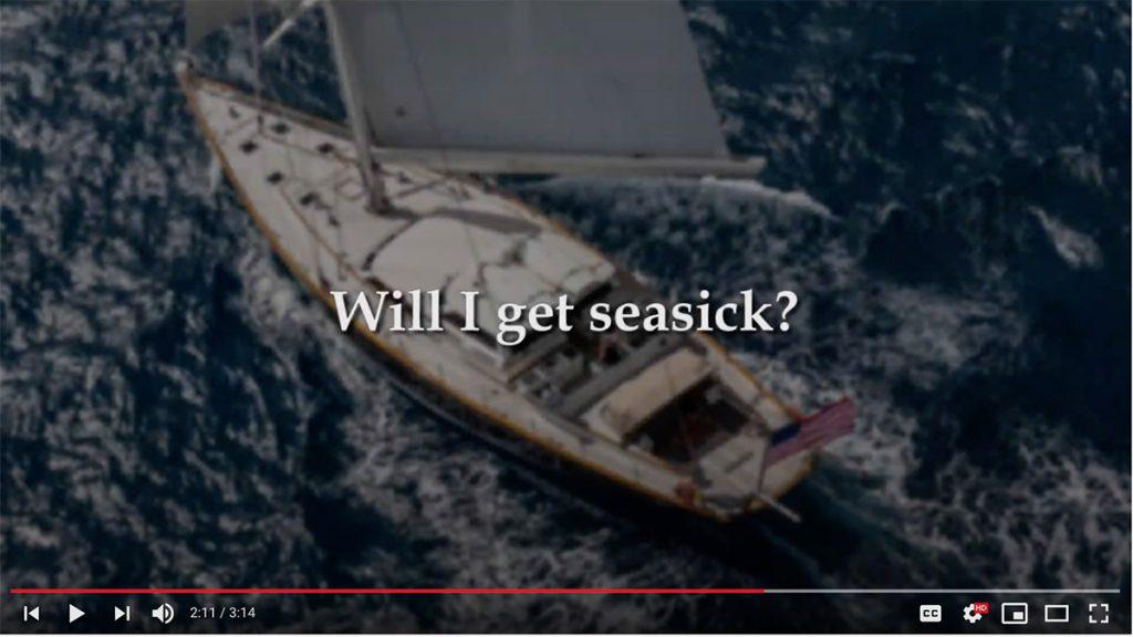 Will I get seasick? Yacht charter FAQs answered here by a professional yacht captain. Video from the Nicholson Yachts YouTube channel.