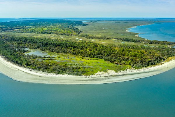 Aerial view of Jekyll Island, one of Georgia's Golden Isles